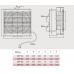 Вентилятор Bahcivan BPP 25 настенный реверсивный с жалюзи (735 m³/h)