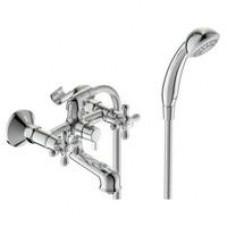 Ретро смеситель для ванны короткий круглый излив BA355AA керамич.переключатель