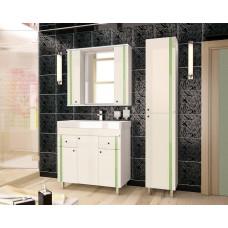 Зеркало-шкаф Флокс 750/С (800*750*200) ЗЕЛЕНОЕ СТЕКЛО(Стиль Лайн)