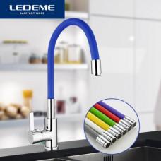 Смеситель Ledeme д/кухни 4898-6 синий цвет кухня шаровый