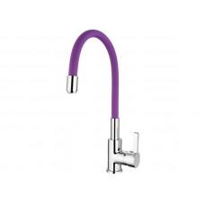 Смеситель Ledeme д/кухни 4898-8 фиолетовый цвет кухня шаровый