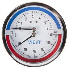 Термоманометр гор.(сзади)1/2 120С 6 БАР VIEIR YE6
