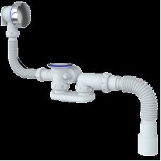 S102 Сифон автомат д/ванны и глубокого поддона с переливом и гофрой 40*40/50