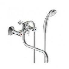 Лайф смеситель для ванны излив 250мм+душевай набор ВА362АА