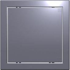 Лючок пластиковый Л 20*40 dark gray metal
