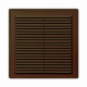 Решетка с москитной сеткой коричневая 2525Р
