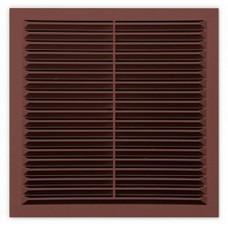 Решетка с москитной сеткой коричневая 1313С