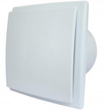 MM-Р-UE Вентилятор 06 стекло квадрат, 100 м³/ч, 5,5 Вт, с ОК белый матовый /9302/