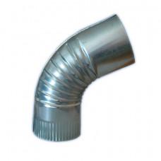 Вентиляция круглый отвод ВКО 125/90/0.5