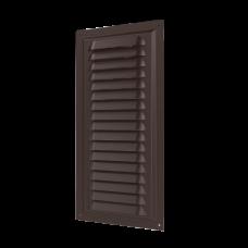 Решетка металлическая 1530МЭ Al Brown с покрытием полимерной эмалью 150х300, Brown