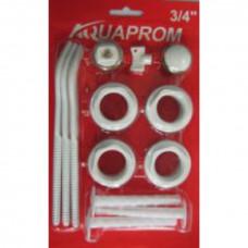 Набор для радиатора 3/4 AQAPROM 2 кронштейнами