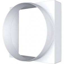 09КВ, Соединитель квадрата 90х90 с круглым воздуховодом пластик D100