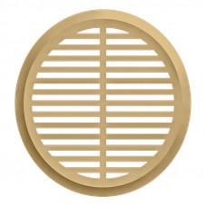 05DP Al Ivory, Решетка вентиляционная переточная алюминиевая с покрытием полимер. эмалью D50, Ivory