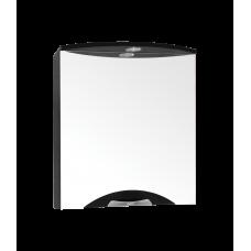 Зеркало-шкаф Жасмин-2 600/С (700*600*154) ЛЮКС ЧЕРНЫЙ (Стиль Лайн)