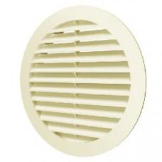 Решетка вентиляционная круглая D150 с фланцем D125 12РКН  IVORY
