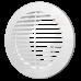 Решетка вентиляционная круглая, разъемная D145 с фланцем D100 10РКФ