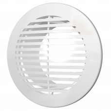 Решетка вентиляционная круглая, разъемная D165 с фланцем D121 12РКФ