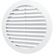Решетка вентиляционная круглая с пластиковой сеткой D150 с фланцем D125 12РКС,