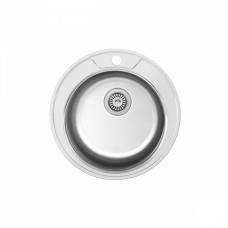 Мойка Ledeme L85151-8 d510*180 круглая 0,8 мм полированная с сифоном выпуск 3 1/2