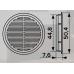 05ДП 1/4 Решетка переточная круглая D50 с фланцем D45