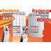 RADENA Радиатор алюминиевый 350/80-8 секций
