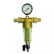 Фильтр c манометром для холодной воды 1/2 VIEIR JH152