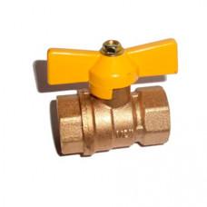 Кран шаровый STT NEW 1/2 г/г бабочка газовый (5/30/300)