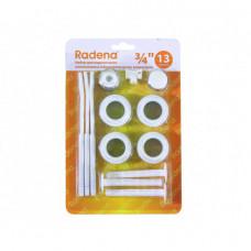 Набор для радиатора 3/4 13 предметов Radenа три кронштейна