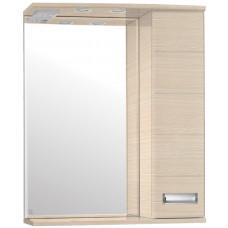 Зеркало-шкаф Ирис 600/С  (730*600*234)ВЕНГЕ СВЕТЛЫЙ (Стиль Лайн)
