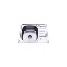 Мойка Ledeme L95848-L 580*480*180 левая 0,8 мм полированая прямоугольн. малая с сифоном выпуск 3 1/2