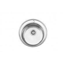 Мойка Ledeme L85151-6 d510*180 круглая  0,6 мм полированная с сифоном выпуск 3 1/2
